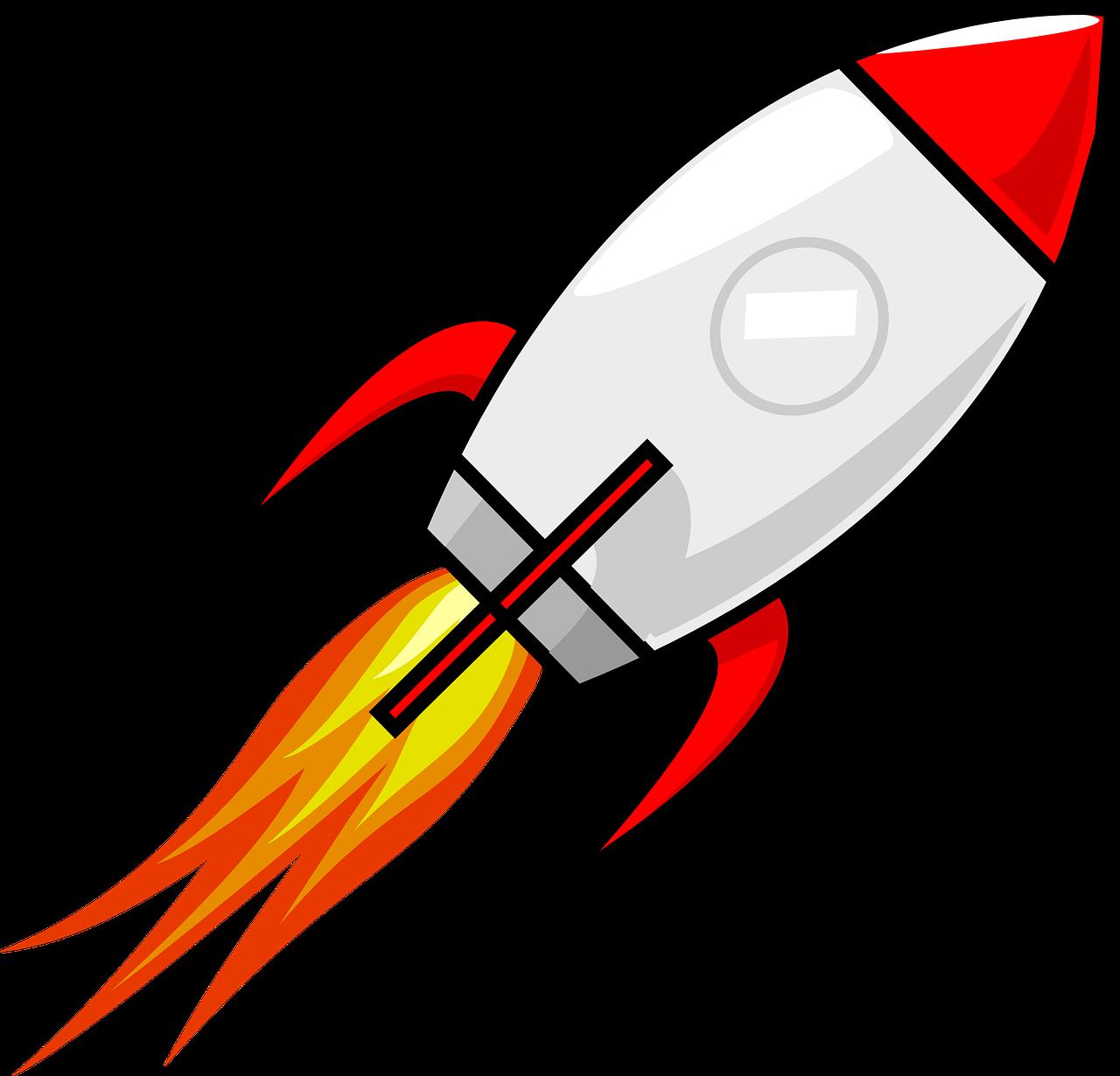 Abhebende Rakete